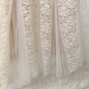 Dresses - White Lace Gown